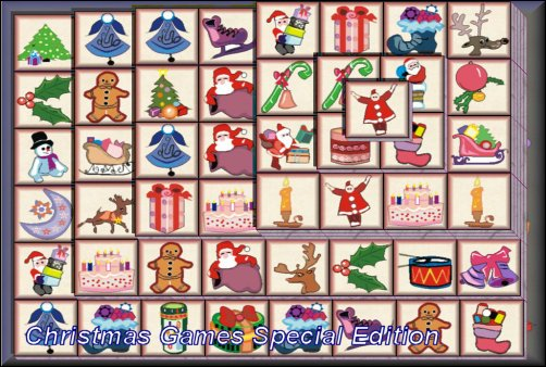 Christmas Mahjong.Complicat Christmas Games Mahjong Four Rivers Concentration